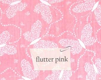 flutter pink blanket, baby blanket, security blanket, lovey, crib blanket, stroller blanket, baby shower gift, minky blanket
