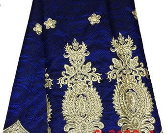 Royal Blue & Gold George Lace