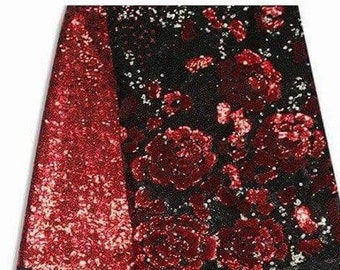 Red Sequins Lace