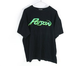 Official POISON Vintage 80s Metal Tee Shirt One Size