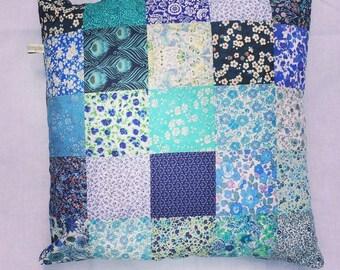 Liberty patch work cushion