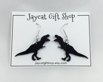 T-rex Earrings, Dinosaur Earrings, Tyrannosaurus Earrings, Dino Earrings, Geeky Earrings