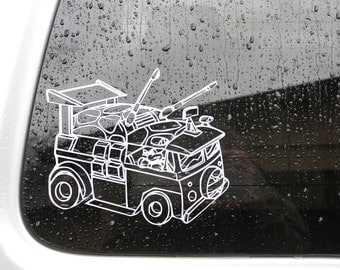 Party Wagon Teenage Mutant Ninja Turtle Decal Any Size Any Colors