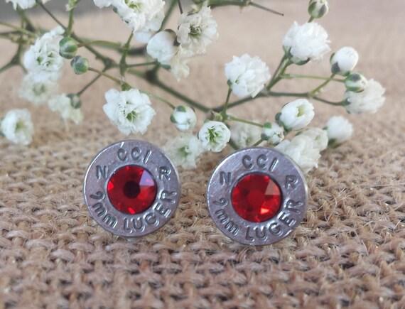 Bonfire 9mm CCI Bullet Stud Earrings