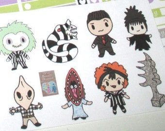 Beetlejuice Character Stickers