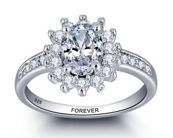 Cheap Engagement Ring, unique engagement ring, custom engagement ring, inexpensive engagement rings,  princess cut engagement ring