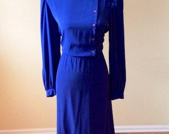 Vintage 1970s/1980s dress/ Michael Benjamin dress