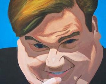 Chris Farley autographed giclee