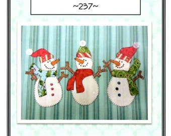 Snowman Trio Pattern from Quilt Doodle Designs
