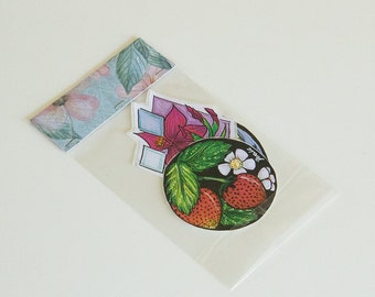Lovely Flower and Berry stickers