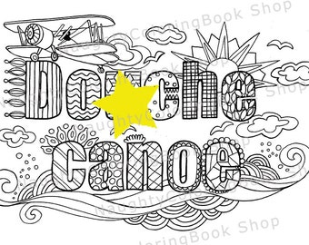 Douhe Canoe Swear Words Printable Coloring Pages Word