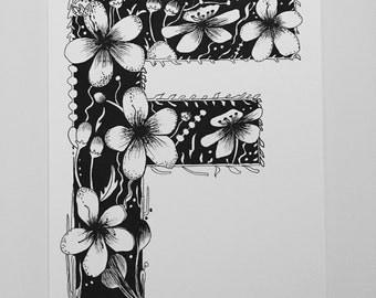 Floral Letter F