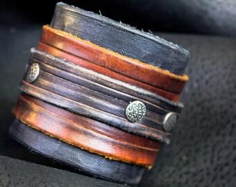 Leather Wrap Bracelet, Leather Bracelet  for Men