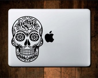 Sugar Skull Vinyl Decal/Sticker for car, laptop, etc. Available in any color