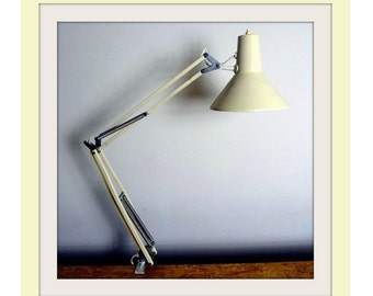 White Retro Desk Lamp 70s