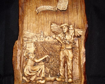 Wooden Carving/plaque from Bourgogne