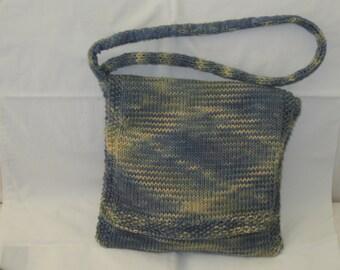 Hand knit messenger bag