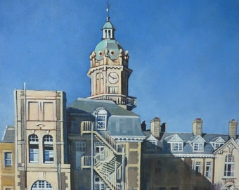 Cossham Hospital I - Architectural painting in oil