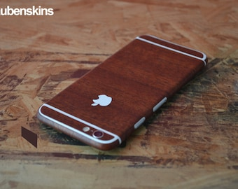 iphone 6 skin woodgrain and white