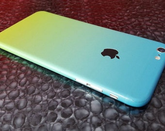 iphone 6 skin gradient yellow to blue