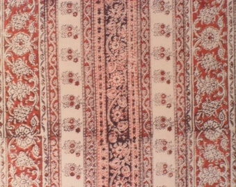 Vintage Indian Hand Block Print Fabric