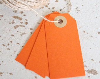 Parcel Tags Pk10 - Orange