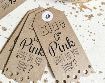 Rustic Baby Shower Tags Pk20