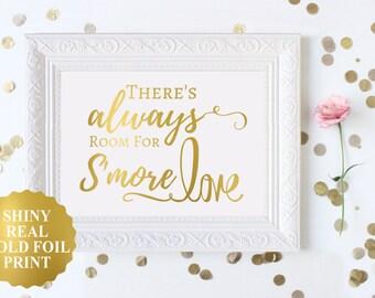 Smores Sign, Wedding Smores Bar Sign, S'mores Bar Sign, Smore Love Sign, Rustic Wedding, Wedding Reception, Wedding Candy Bar Dessert Sign