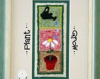 429 Plant, Love, Grow  Punch Needle Design