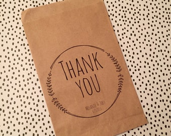 Thank You Wedding & Party Favor Personalized Treat, Candy Bag
