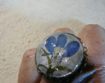 Ring with lobelia.