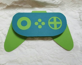 Video Game Controller Birthday Party Invitations.  Package of 8