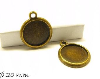 Cabochon versions / Medallion Ø 20 mm bronze