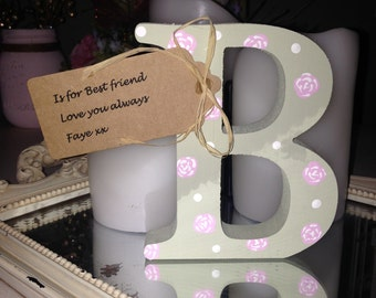 Shabby chic Wooden decorated letters
