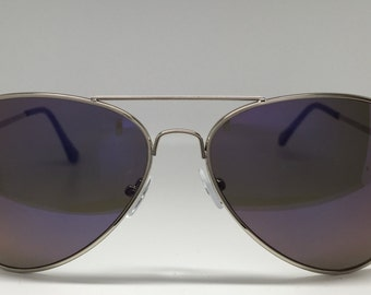 Silver Women's Aviator Sunglasses