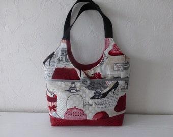 Paris fabric handbag