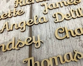 Wooden Place Name Settings