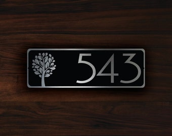 Decorative House Number Signs decorative house numbers rochelle petite Personalized House Number Sign Outdoor House Nameplate Custom House Name Wall Plaque Sign