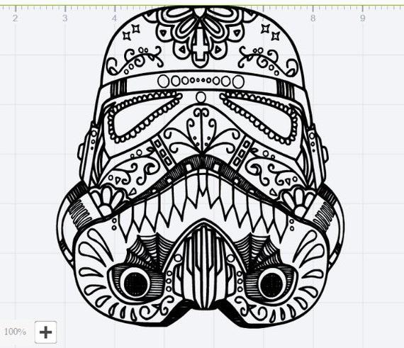 mandala star wars storm trooper design svg eps dxf studio 3. Black Bedroom Furniture Sets. Home Design Ideas