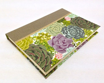Handmade Journal with Succulents Pattern