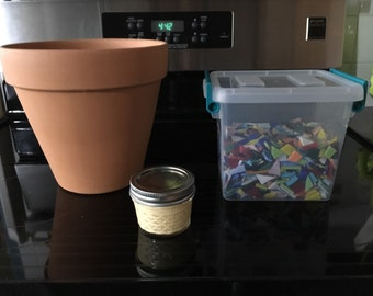 Do it yourself mosaic pot