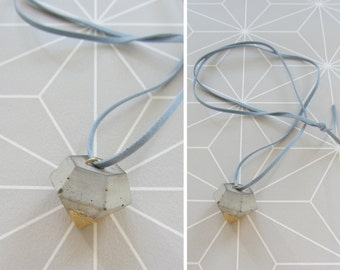 Concrete diamond Ribbon necklace