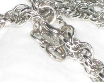 Monet 52 inch silver toned braided necklace