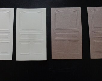 4 pc Die cut Passage Door pieces. Chipboard, Cardstock, Sizzix, Tim Holtz, crafts, scrapbooking, card making, all occasion
