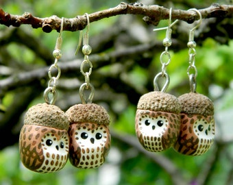OWL OWL earrings tassel
