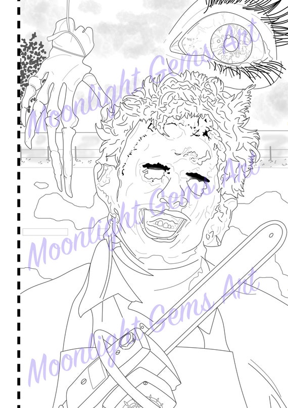 The texas chain saw massacre colouring page poster for Chainsaw coloring pages