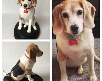 Custom Pet Sculpture | polymer clay pet figurine | Custom pet ornament