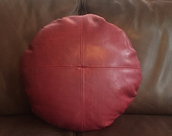 The Balloon- 99 Red Balloons Leather Pillow
