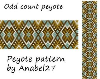 Bead pattern #108 - Peyote Cuff Pattern - Beaded Bracelet Pattern