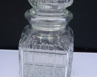 Square Art glass decanter
